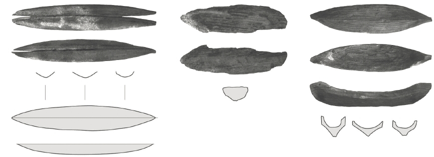 Toys – wooden boats from Lerivík on Eysturoy (source: Steffen Stummann Hansen – Inga Merkyte – Joanna Bending: Toftanes, a Viking Age Farmstead in the Faroe Islands: archaeology, environment and economy. Acta Archaeologica 84/1. Oxford (: Willey, Blackwell), 2013, s. 100)