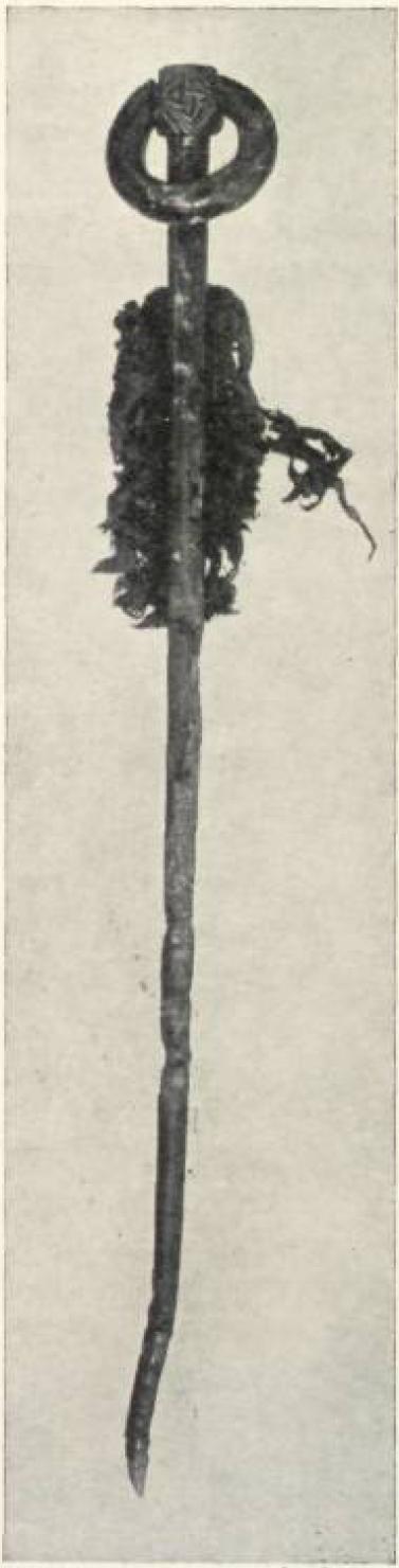 Hiberno-Norse ringed pin from a grave at Tjørnuvík on Streymoy (source: S. Dahl – J. Rasmussen: Víkingaaldargrøv í Tjørnuvík. In: Fróðskaparrit 5, 1956, Fig. 6)