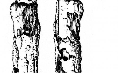 Do výbavy patřil  železný meče s konstrukcí známou i v oblasti východní Francie a Porýní