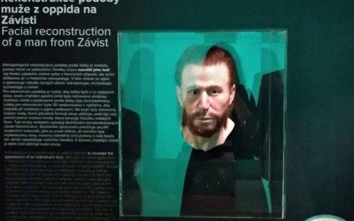 Prezentace podoby muže ze Závisti na výstavě, foto E. Vaníčková