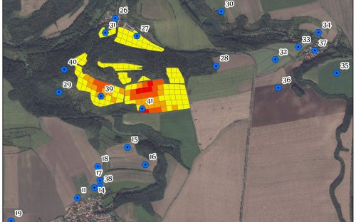 Plan lokality: Minice  - Holubice